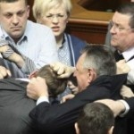 019 Fists Fly In Ukrainian Parliamentary Punch-Up